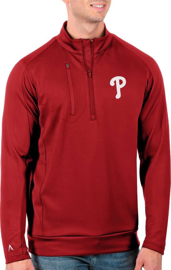 Antigua Men's Tall Philadelphia Phillies Generation Red Half-Zip Pullover product image