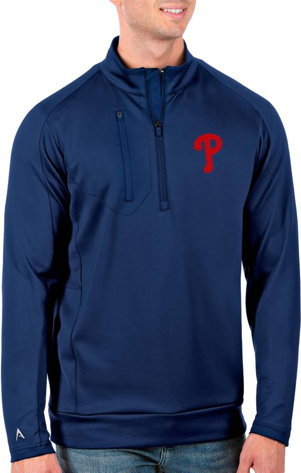 Antigua Men's Tall Philadelphia Phillies Generation Royal Half-Zip Pullover product image