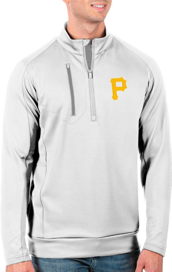 Antigua Men's Tall Pittsburgh Pirates Generation White Half-Zip Pullover product image