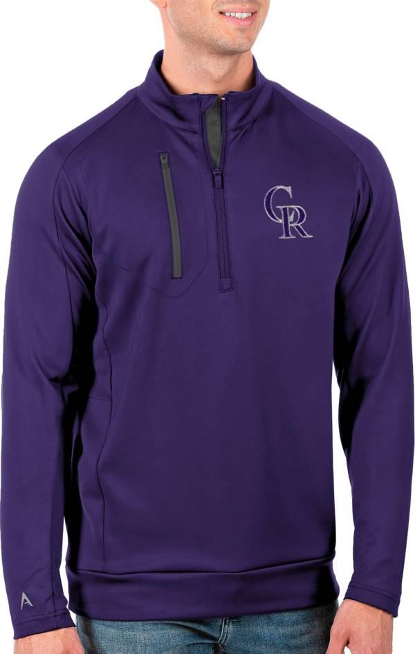Antigua Men's Tall Colorado Rockies Generation Purple Half-Zip Pullover product image
