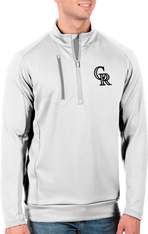 Antigua Men's Tall Colorado Rockies Generation White Half-Zip Pullover product image