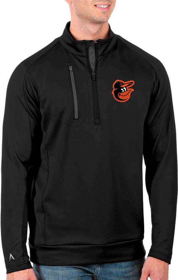 Antigua Men's Tall Baltimore Orioles Generation Black Half-Zip Pullover product image