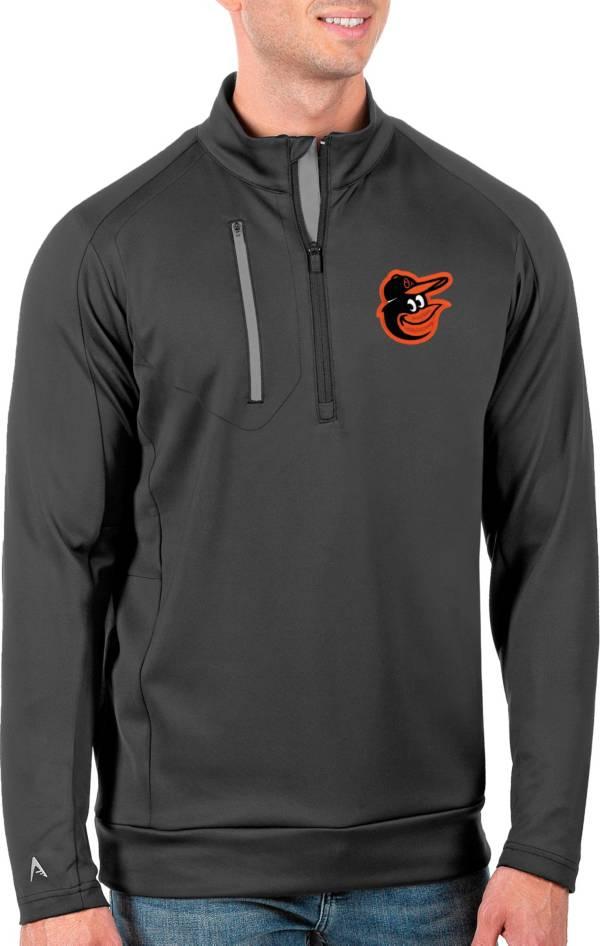 Antigua Men's Tall Baltimore Orioles Generation Carbon Half-Zip Pullover product image