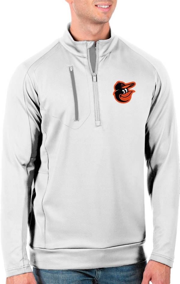 Antigua Men's Tall Baltimore Orioles Generation White Half-Zip Pullover product image