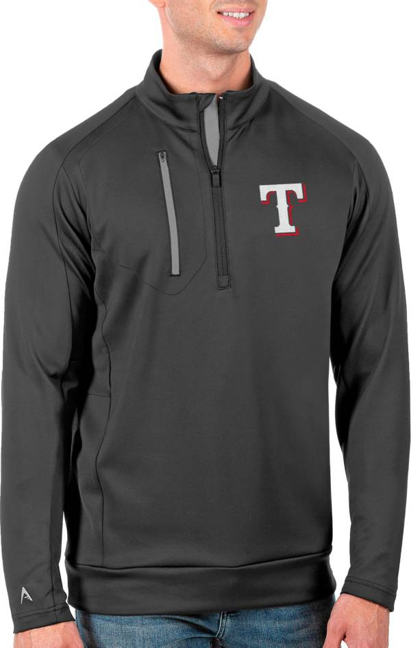 Antigua Men's Tall Texas Rangers Generation Carbon Half-Zip Pullover product image