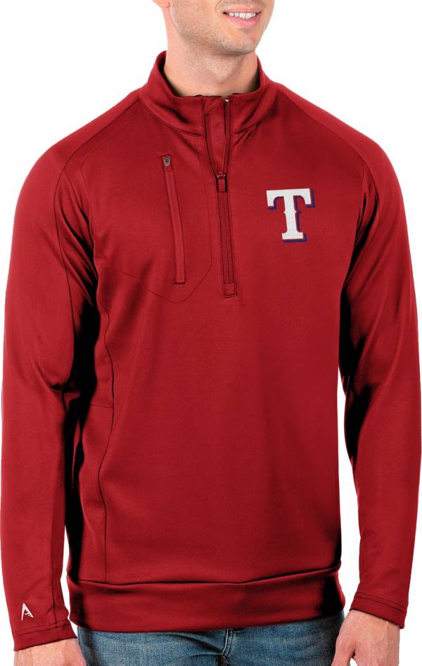 Antigua Men's Tall Texas Rangers Generation Red Half-Zip Pullover product image