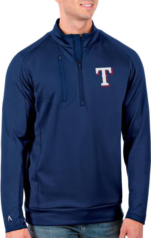 Antigua Men's Tall Texas Rangers Generation Royal Half-Zip Pullover product image
