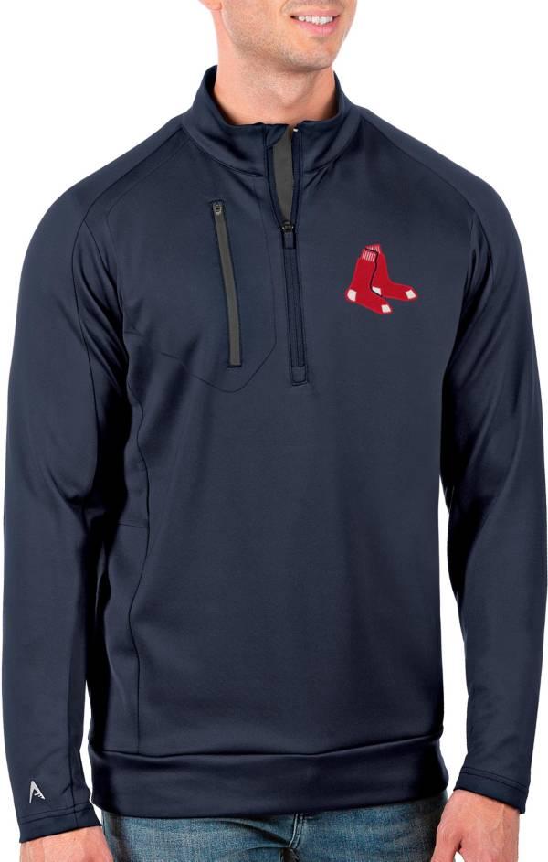 Antigua Men's Tall Boston Red Sox Generation Navy Half-Zip Pullover product image