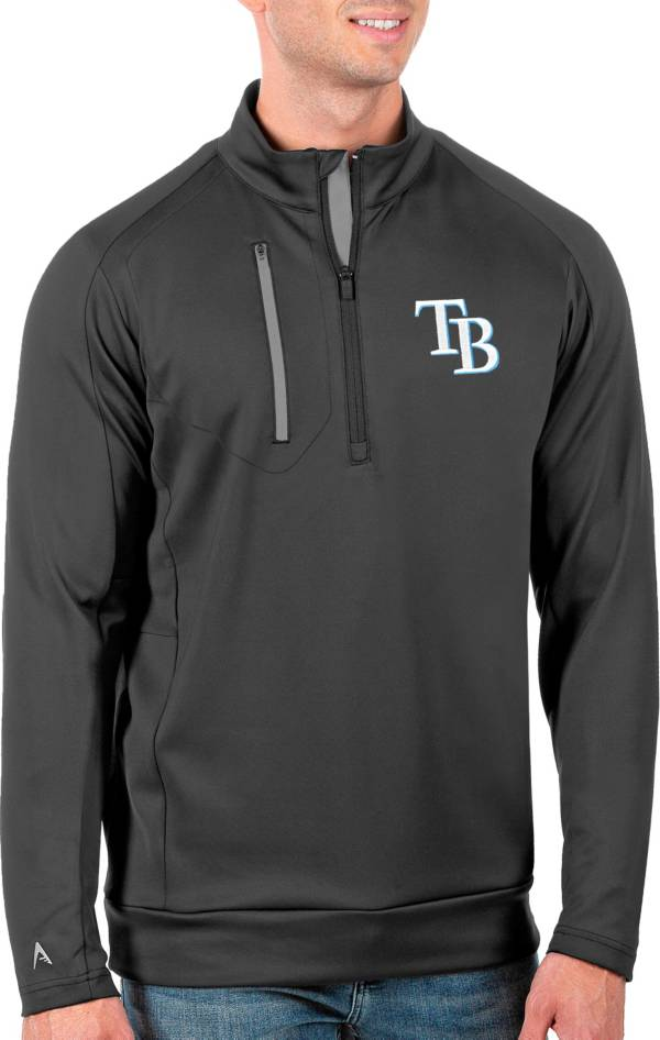 Antigua Men's Tall Tampa Bay Rays Generation Carbon Half-Zip Pullover product image