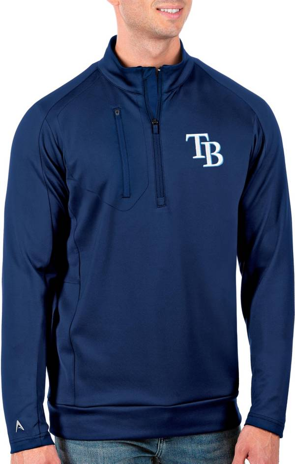 Antigua Men's Tall Tampa Bay Rays Generation Royal Half-Zip Pullover product image