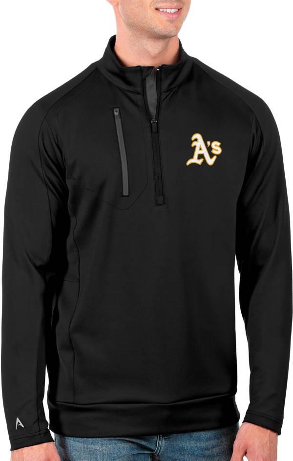 Antigua Men's Tall Oakland Athletics Generation Black Half-Zip Pullover product image