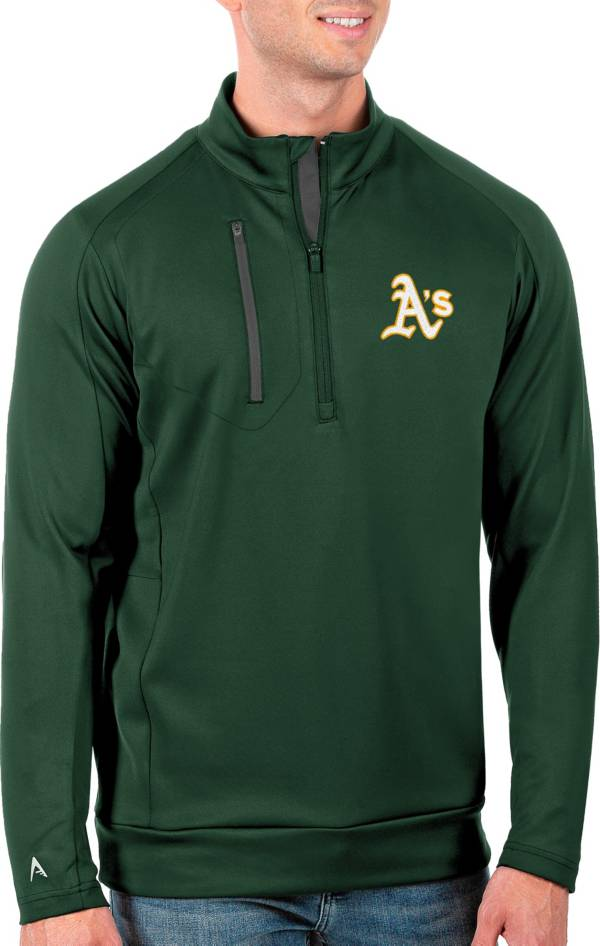 Antigua Men's Tall Oakland Athletics Generation Pine Half-Zip Pullover product image