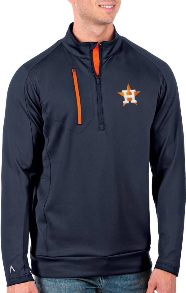 Antigua Men's Tall Houston Astros Generation Navy Half-Zip Pullover product image