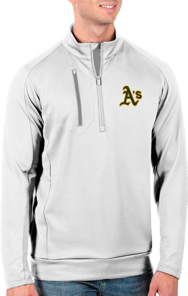 Antigua Men's Tall Oakland Athletics Generation White Half-Zip Pullover product image