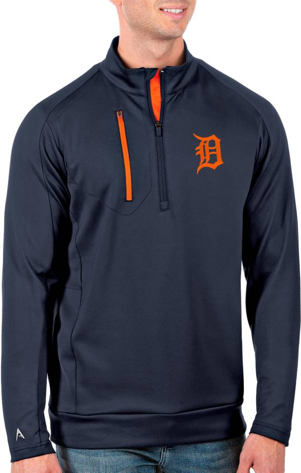 Antigua Men's Tall Detroit Tigers Generation Navy Half-Zip Pullover product image