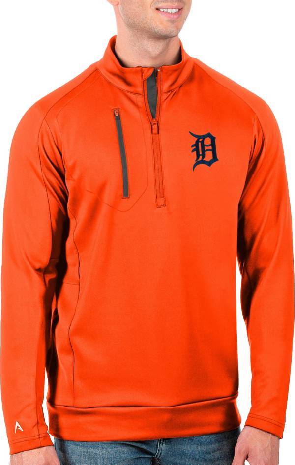 Antigua Men's Tall Detroit Tigers Generation Mango Half-Zip Pullover product image