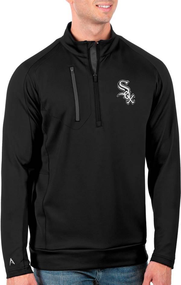 Antigua Men's Tall Chicago White Sox Generation Black Half-Zip Shirt product image