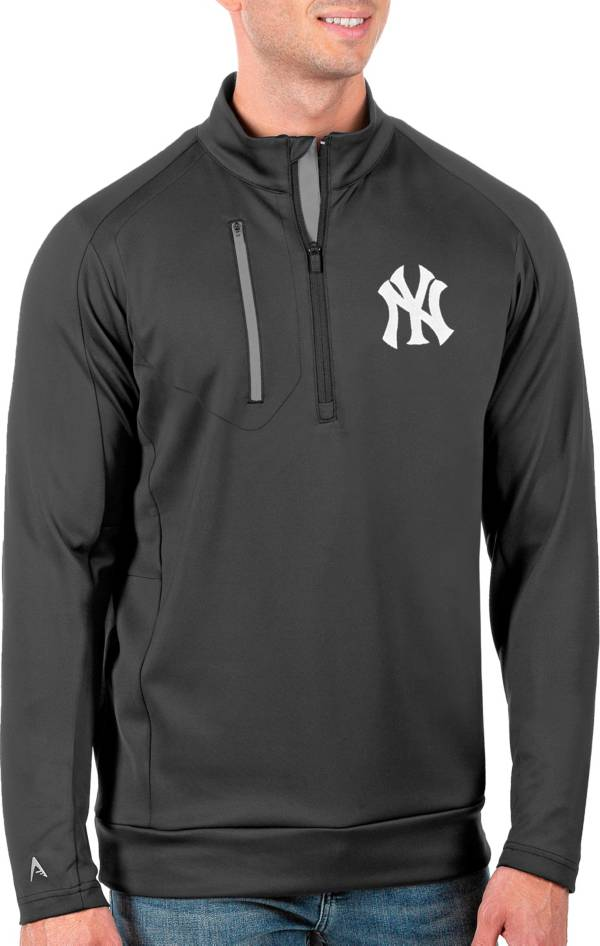 Antigua Men's Tall New York Yankees Generation Carbon Half-Zip Pullover product image