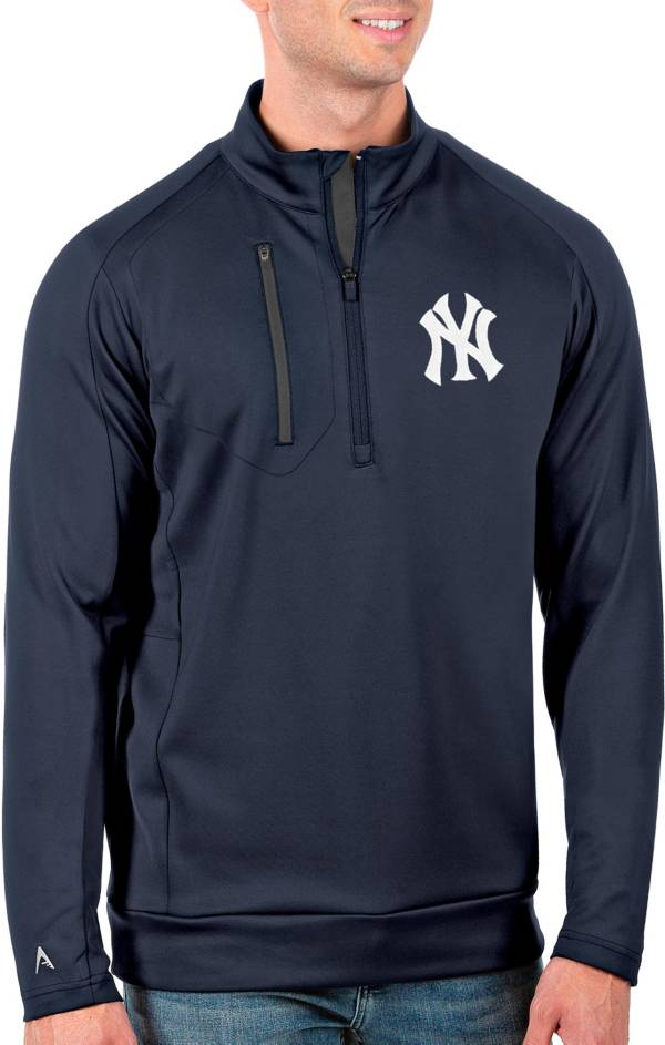 Antigua Men's Tall New York Yankees Generation Navy Half-Zip Pullover product image
