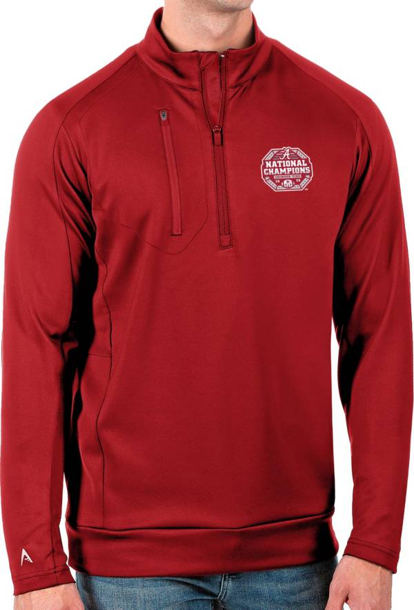 Antigua Men's 2020 National Champions Alabama Crimson Tide Crimson Generation Half-Zip Pullover Shirt product image