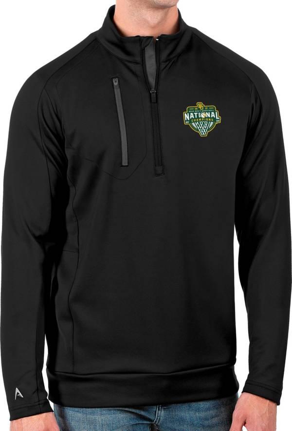 Antigua Men's Baylor Bears 2021 Men's Basketball National Champions Black Generation Half-Zip Pullover Shirt product image