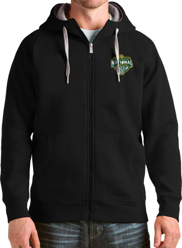 Antigua Men's Baylor Bears 2021 Men's Basketball National Champions Black Victory Full-Zip Hoodie product image