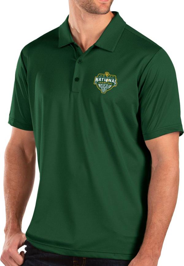 Antigua Baylor Bears Men's 2021 Men's Basketball Champions Green Balance Polo product image