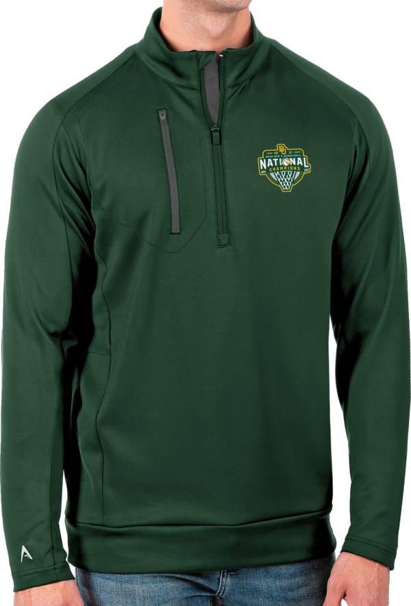 Antigua Men's Baylor Bears 2021 Men's Basketball National Champions Green Generation Half-Zip Pullover Shirt product image