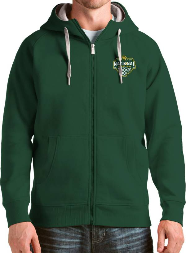 Antigua Men's Baylor Bears 2021 Men's Basketball National Champions Green Victory Full-Zip Hoodie product image