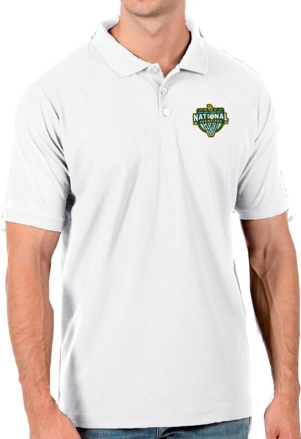 Antigua Men's Baylor Bears 2021 Men's Basketball National Champions White Legacy Pique Polo product image
