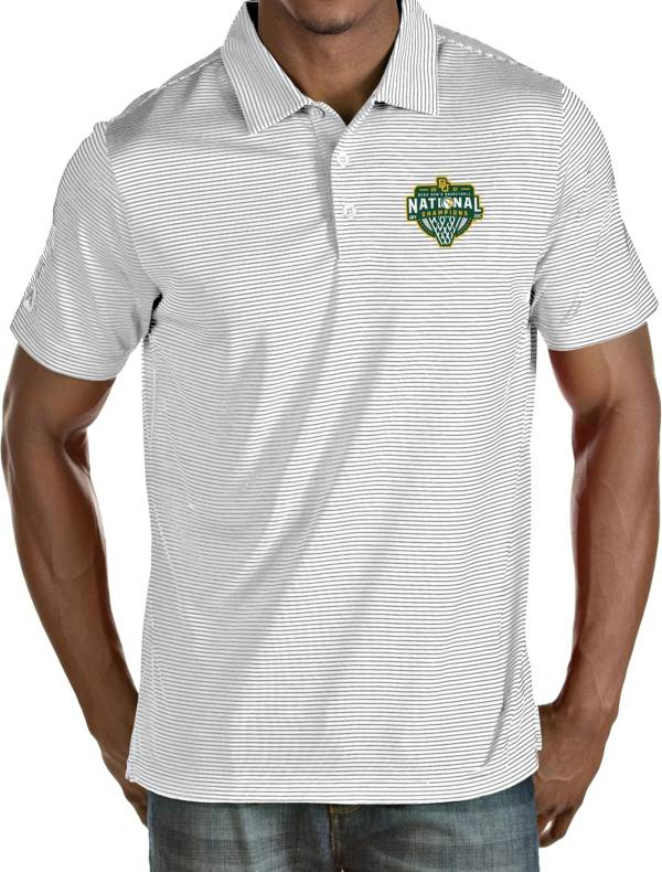 Antigua Men's Baylor Bears 2021 Men's Basketball National Champions White Quest Performance Polo product image