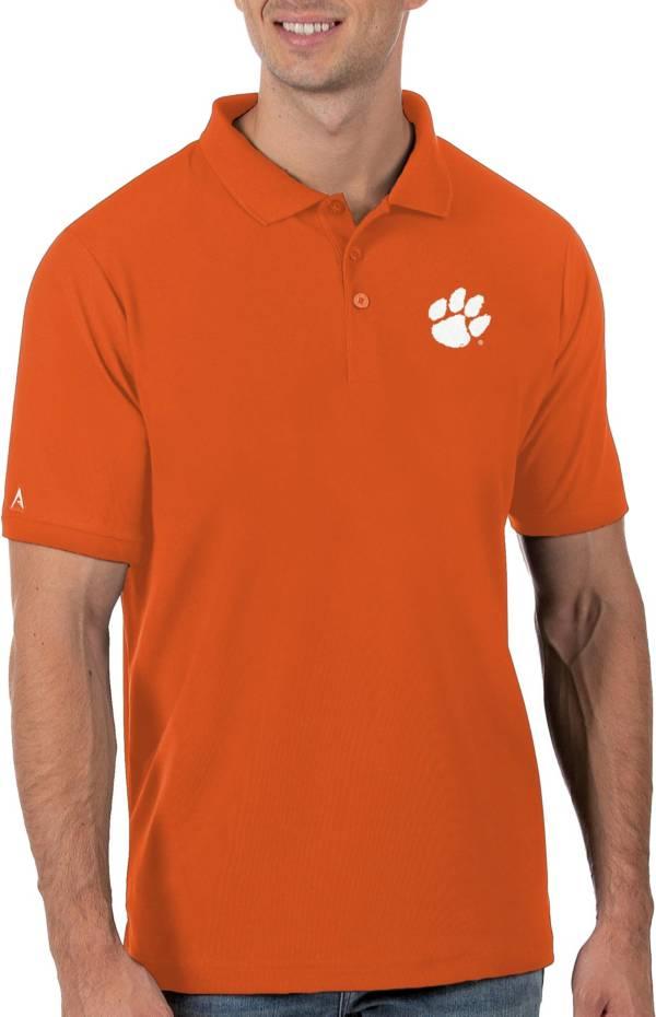 Antigua Men's Clemson Tigers Orange Legacy Pique Polo product image