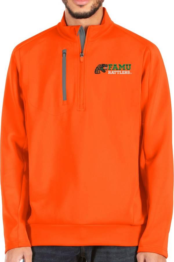 Antigua Men's Florida A&M Ramblers Orange Generation Quarter-Zip Jacket product image