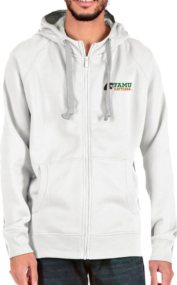 Antigua Men's Florida A&M Rattlers White Victory Full-Zip Hoodie product image