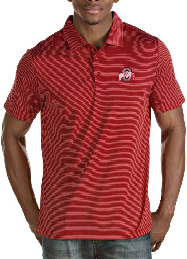 Antigua Men's Ohio State Buckeyes Scarlet Quest Performance Polo product image