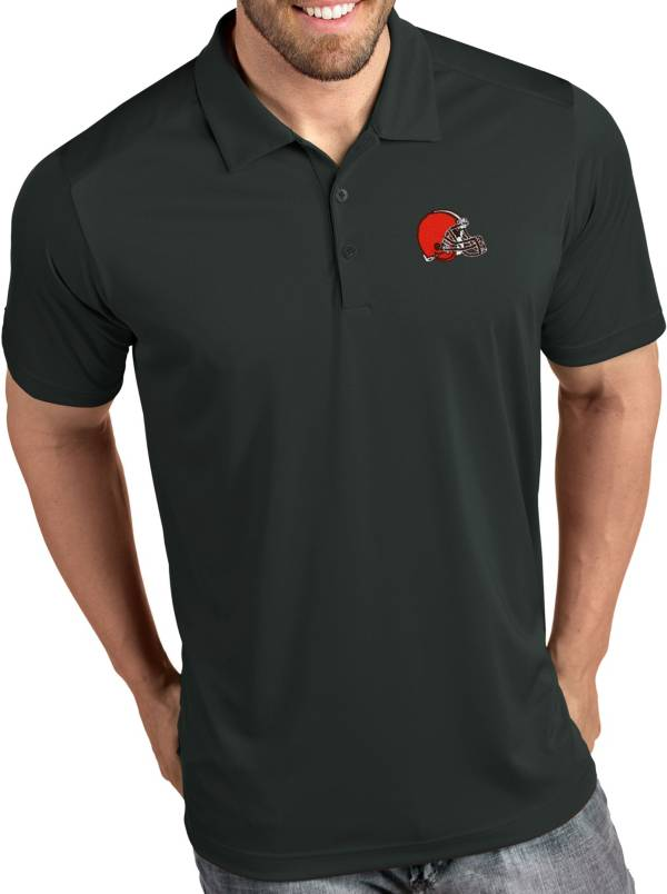 Antigua Men's Cleveland Browns Tribute Grey Polo product image