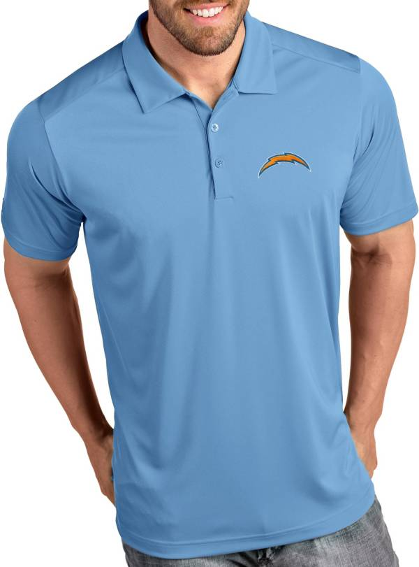 Antigua Men's Los Angeles Chargers Tribute Blue Polo product image