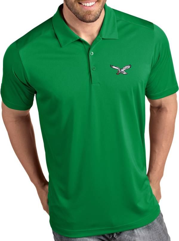 Antigua Men's Philadelphia Eagles Tribute Green Throwback Polo product image