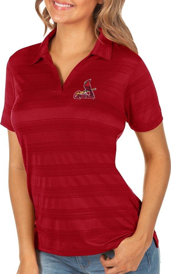 Antigua Women's St. Louis Cardinals Compass Red Polo product image