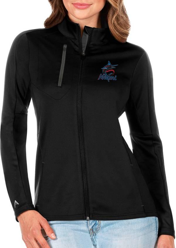 Antigua Women's Miami Marlins Generation Full-Zip Black Jacket product image