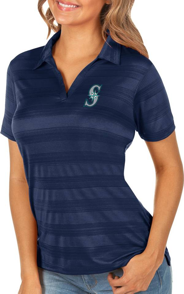 Antigua Women's Seattle Mariners Compass Navy Polo product image