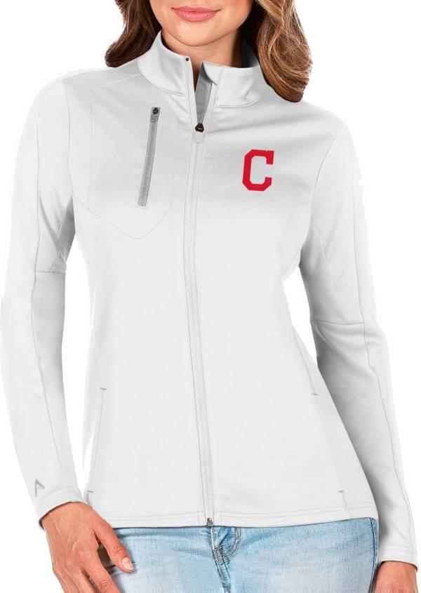 Antigua Women's Cleveland Indians Generation Full-Zip White Jacket product image