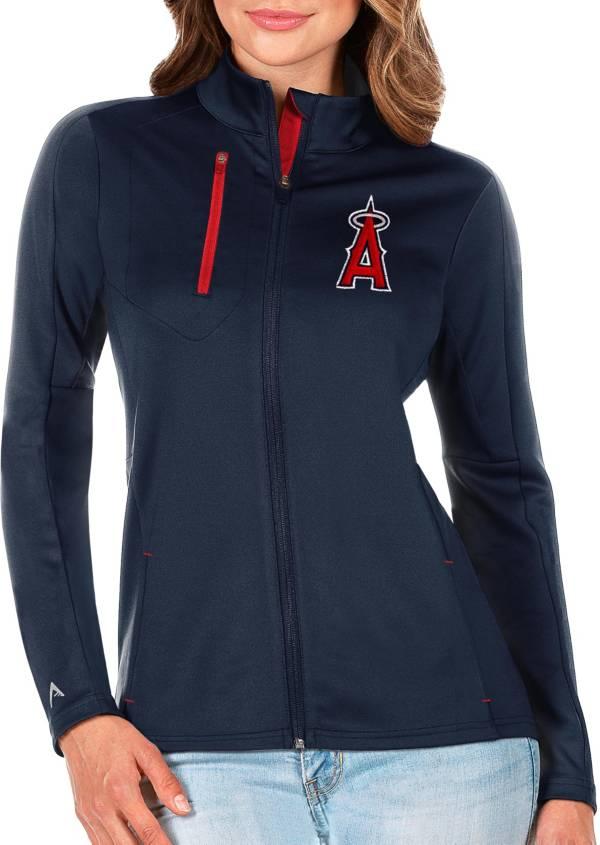 Antigua Women's Los Angeles Angels Generation Full-Zip Navy Jacket product image