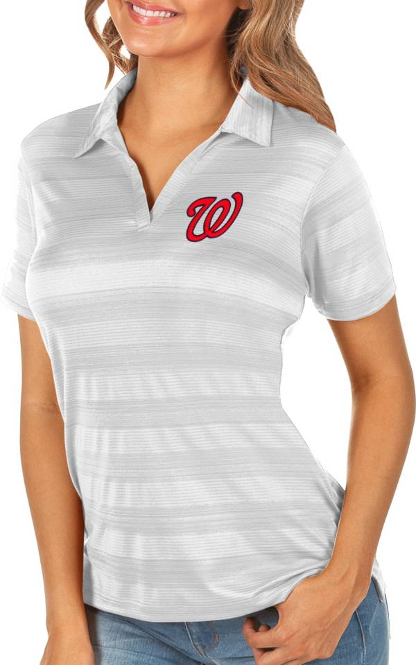 Antigua Women's Washington Nationals Compass White Polo product image