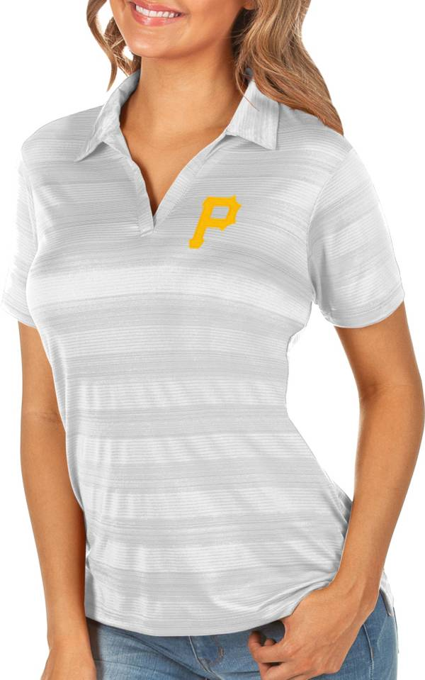 Antigua Women's Pittsburgh Pirates Compass White Polo product image