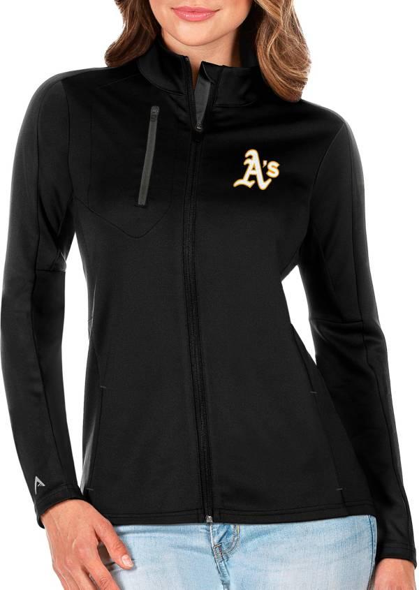 Antigua Women's Oakland Athletics Generation Full-Zip Black Jacket product image
