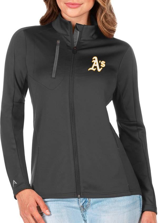 Antigua Women's Oakland Athletics Generation Full-Zip Green Jacket product image