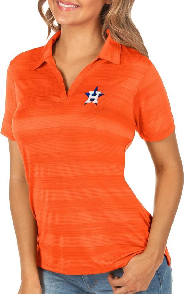 Antigua Women's Houston Astros Compass Mango Polo product image