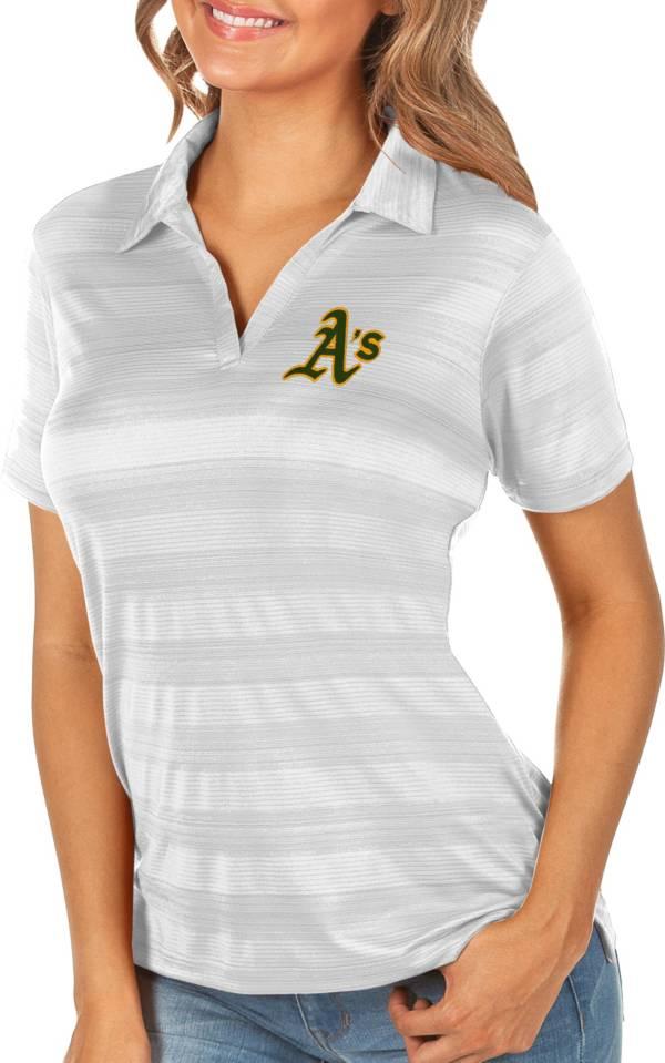 Antigua Women's Oakland Athletics Compass White Polo product image