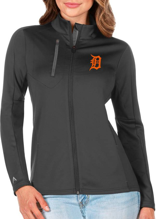 Antigua Women's Detroit Tigers Generation Full-Zip Gray Jacket product image